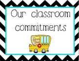 Conscious Discipline - Classroom Commitments: School Version