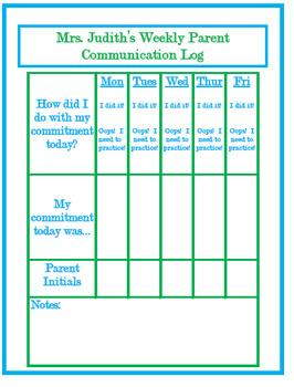 Conscious Discipline Commitment Log
