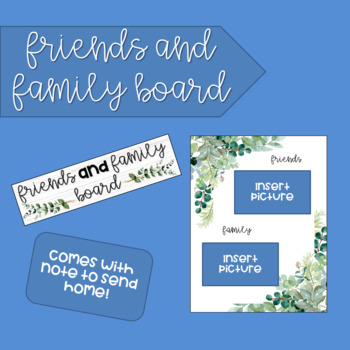 Conscious Discipline Friends and Family Board