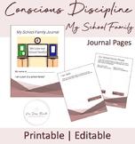 "Conscious Discipline ""MY SCHOOL FAMILY"" Journal Pages, EDI"