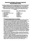 Conscious Discipline Policy Handout