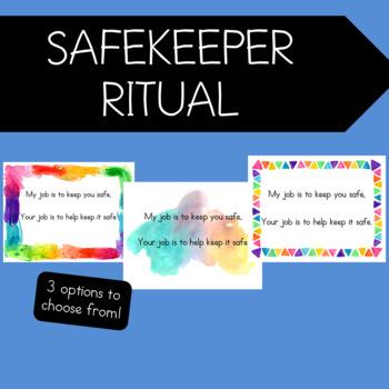 Conscious Discipline Printables-Safekeeper Ritual
