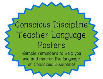 Conscious Discipline Teacher Language Posters