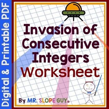 Consecutive Integer Problem Algebra Worksheet PDF MAFS.912.A-CED.1.1