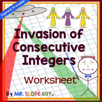 Consecutive Integer Word Problems Worksheet By Mr Slope Guy Tpt