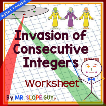 Consecutive Integer Word Problems Worksheet