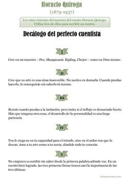 Consejos para la escritura de cuentos de Horacio Quiroga