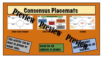 Consensus Placemat