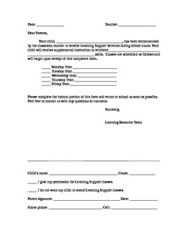 Consent for Services Form