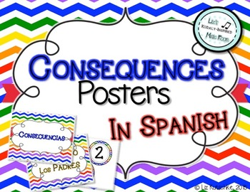 Consequences Posters in Spanish: Chevron