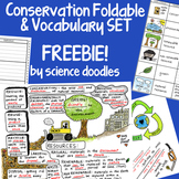 Conservation Interactive Notebook Foldable with Vocabulary Set FREEBIE!