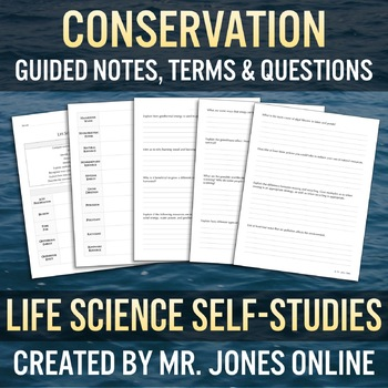 Conservation: Guided Notes / Self Study