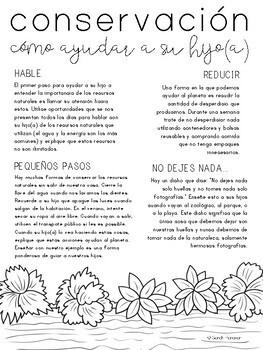Conservation Parent Letter - SPANISH