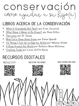 Conservation Parent Letter - SPANISH
