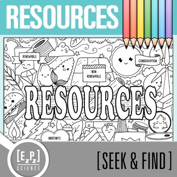 Resources Seek and Find Science Doodle Page