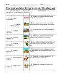 Conservation Strategies & Program Identification (matching)