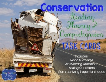 Conservation and Recycling Task Cards for Fluency and Comp