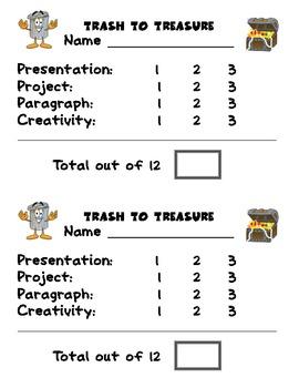Conservation: Trash to Treasure Activity