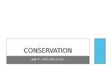 Conservation Vocabulary