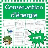 Conservation d'énergie unité (Conservation of Energy Unit) French