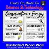 Conservation of Energy Illustrated Word Wall (Grade 5 Ontario)