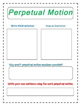 Conservation of Energy Vocabulary Packet