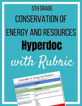 Conservation of Energy and Resources Hyperdoc with Rubric