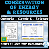 Conservation of Energy & Resources - Ontario Grade 5 Science - Distance Learning