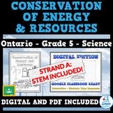 Conservation of Energy & Resources - Ontario Grade 5 Scien