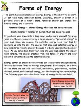 Conservation of Energy and Resources