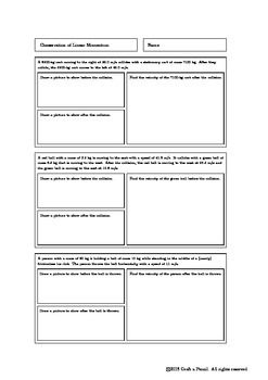 Conservation of Linear Momentum Homework