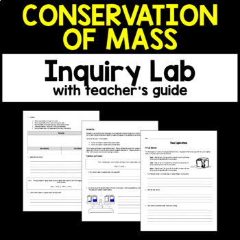 Conservation of Mass Inquiry Chemistry Lab