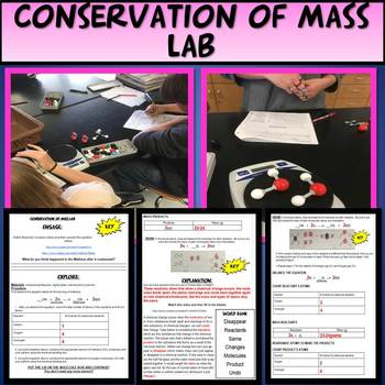 NGSS 5E Conservation of Mass Lab Climate Change & Cloze Notes