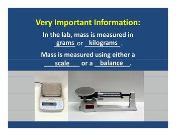 Conservation of Mass PowerPoint Lesson Plan