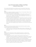 Conservation of Mass Unit Plan