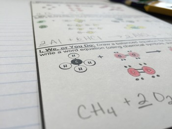 Conservation of Mass for Chemistry Interactive Notebooks and Lapbooks