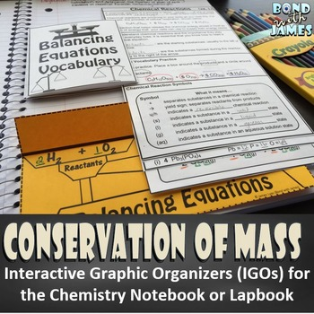 Conservation of Mass for Chemistry Interactive Notebooks a