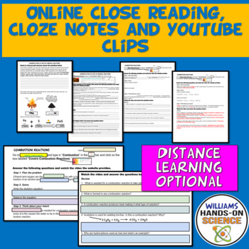MS-PS1-5: Conservation of Mass Chemical Reactions Online Close Reading & Notes