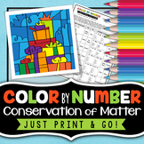 Conservation of Matter - Christmas Science Color By Number