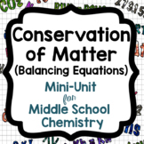 Conservation of Matter Mini-Unit (Balancing Chemical Equations)
