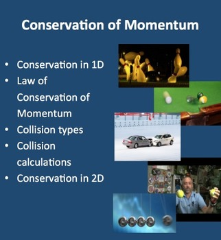Conservation of Momentum - A Physics PowerPoint Lesson Package