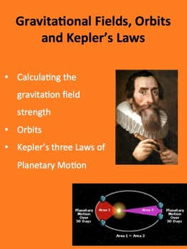 Gravitational Fields, Orbits and Kepler's Laws - A Physics