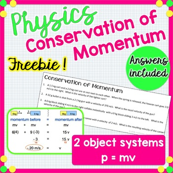 Conservation of Momentum - Physics - FREE