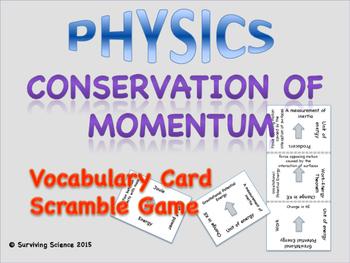 Conservation of Momentum: Physics Vocabulary Scramble