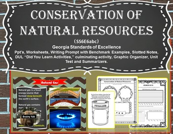 Conservation of Natural Resources (S6E6abc)