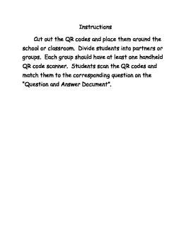 Conservation of Resources QR Code Scavenger Hunt