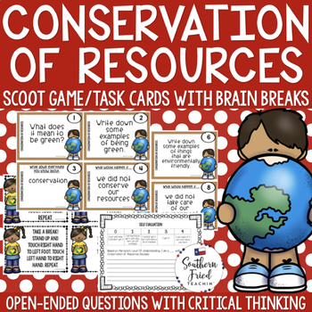 Conservation of Resources Scoot Game/Task Cards