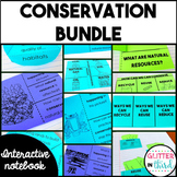 Conservation & water pollution Interactive Notebook BUNDLE