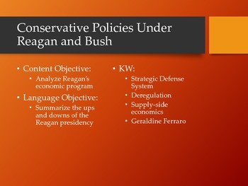 Conservative Policies Under Reagan and Bush
