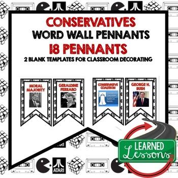 Conservative Reagan and Bush Word Wall (American History)